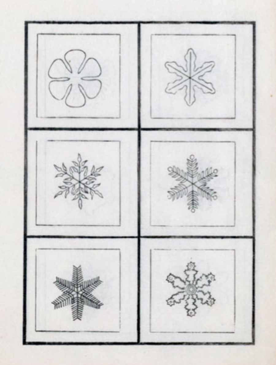 Toshitura Doi sneeuwkristallen