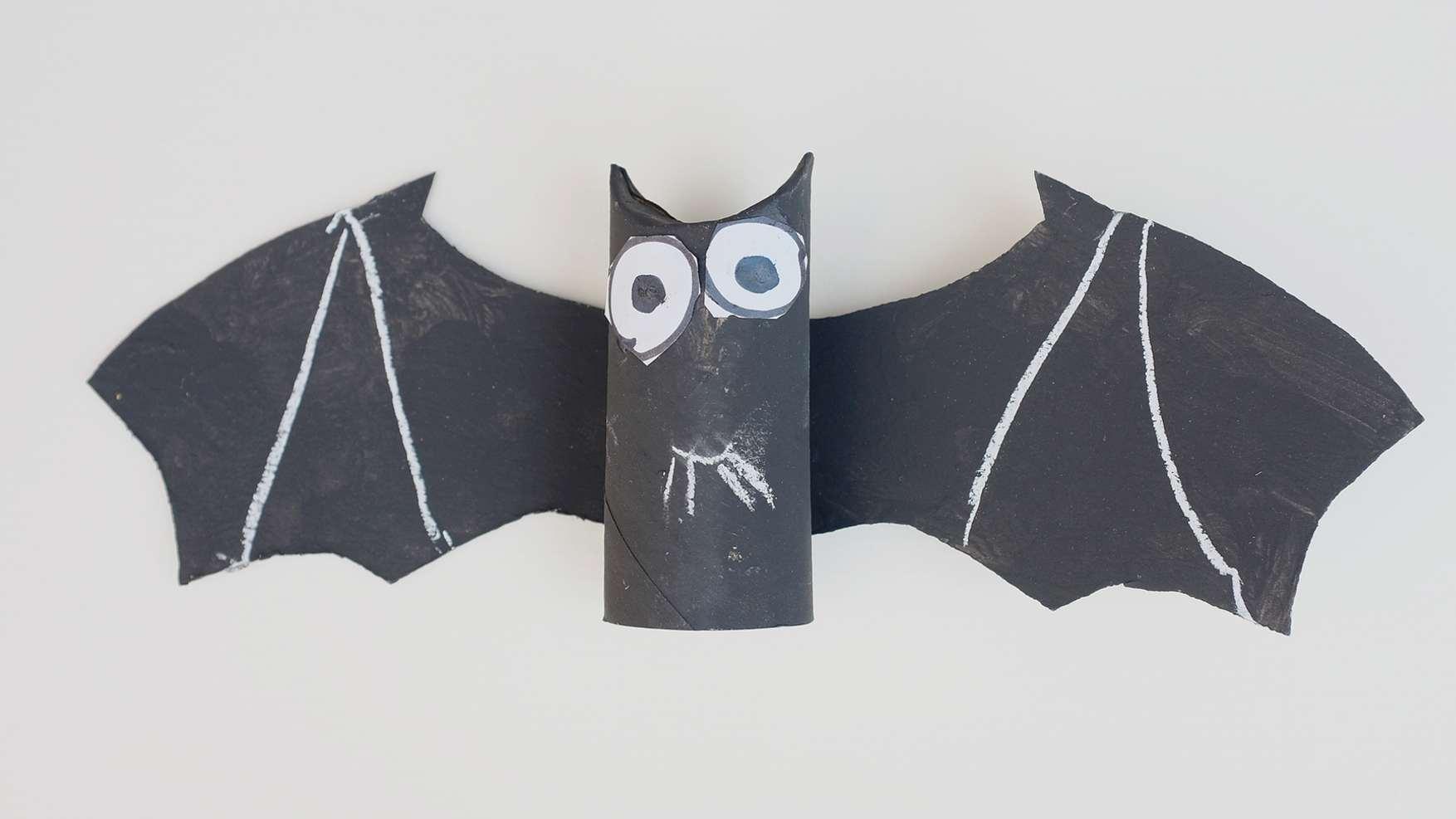 vleermuizen - doe het zelf vleermuis van wc rol en karton - verven en klaar!